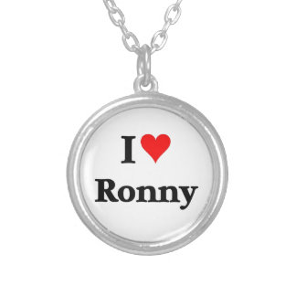 I love Ronny Silver Plated Necklace