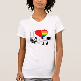 I Love Roosters and Cats - Shirt 4 bisexual Girls
