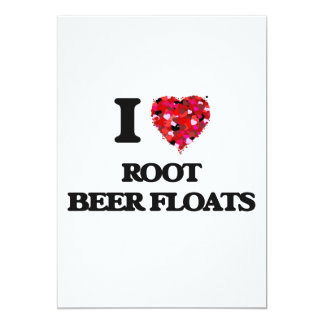 I love Root Beer Floats 5x7 Paper Invitation Card