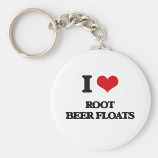 I love Root Beer Floats Basic Round Button Keychain