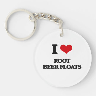 I love Root Beer Floats Single-Sided Round Acrylic Keychain