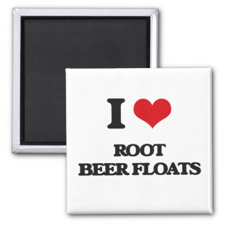 I love Root Beer Floats 2 Inch Square Magnet