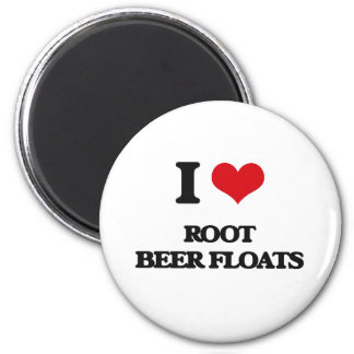I love Root Beer Floats 2 Inch Round Magnet