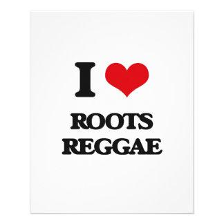 I Love ROOTS REGGAE Flyers