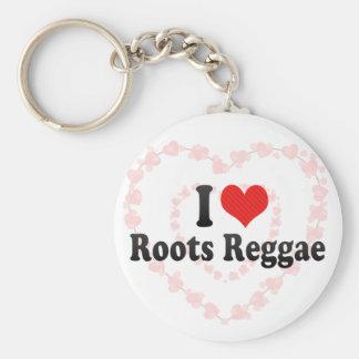 I Love Roots Reggae Keychains