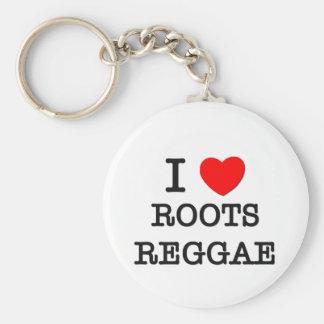 I Love Roots Reggae Key Chains