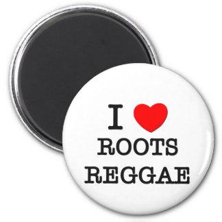 I Love Roots Reggae Magnets