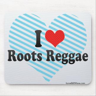 I Love Roots Reggae Mousepads