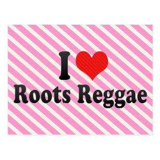 I Love Roots Reggae Post Card