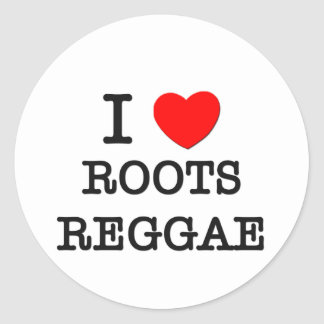 I Love Roots Reggae Sticker