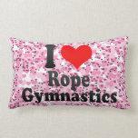I love Rope Gymnastics Throw Pillow