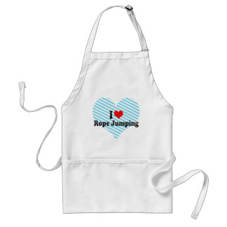I love Rope Jumping Adult Apron