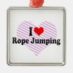 I love Rope Jumping Christmas Ornament