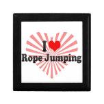 I love Rope Jumping Keepsake Boxes