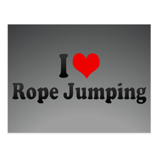 I love Rope Jumping Postcard