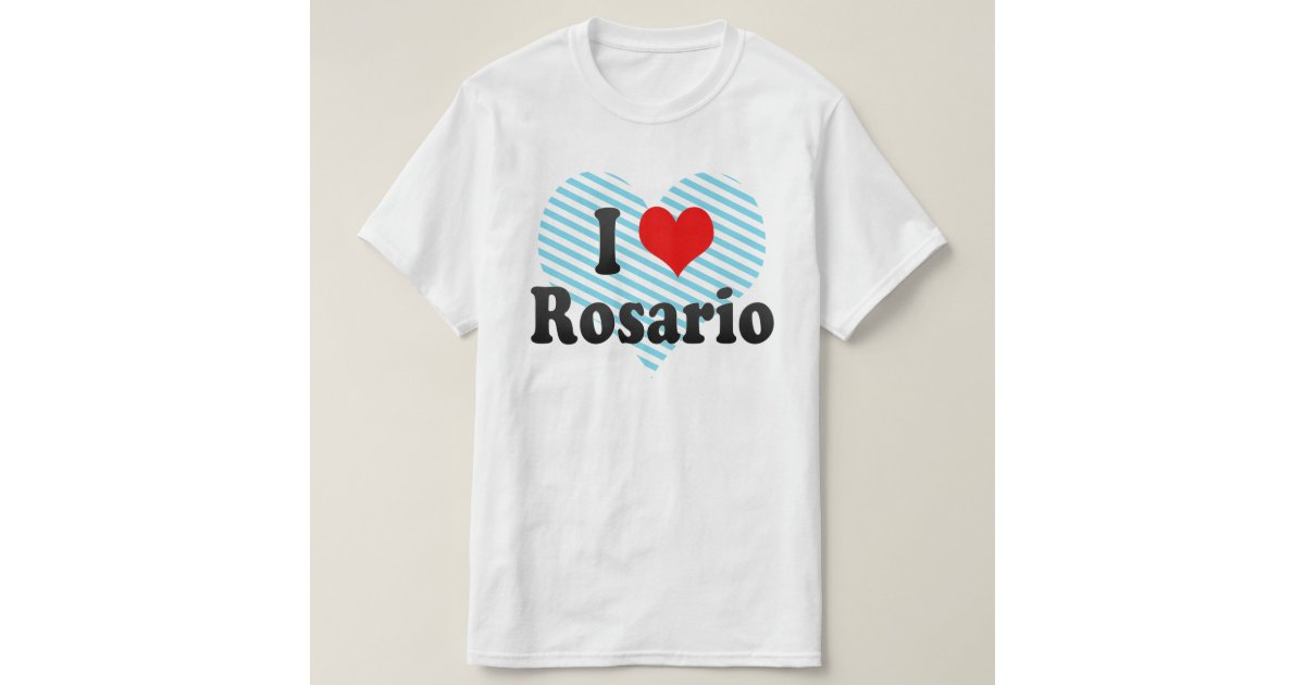 i love rosario argentina t shirt zazzle