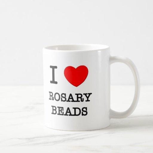 I Love Rosary Beads Mugs