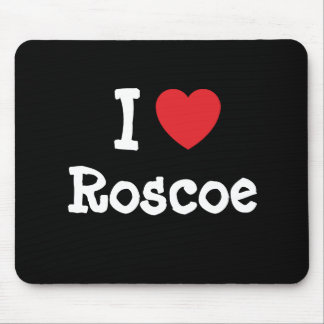 I love Roscoe heart custom personalized Mouse Pad