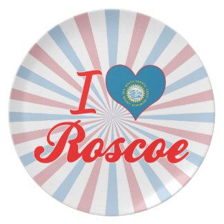 I Love Roscoe, South Dakota Dinner Plates
