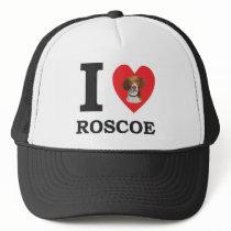 I Love Roscoe the Bed Bug Dog Trucker Hat