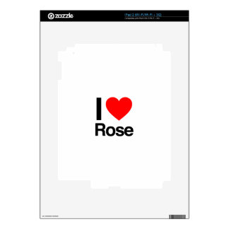 i love rose decals for the iPad 2