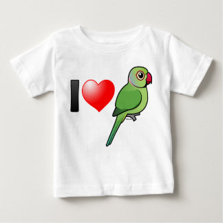 I Love Rose-ringed Parakeets Baby T-Shirt