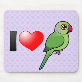 I Love Rose-ringed Parakeets Mouse Pads