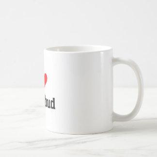 I love rosebud classic white coffee mug
