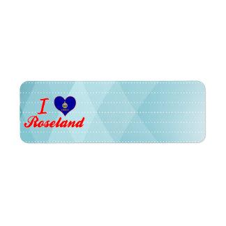 I Love Roseland, Kansas Custom Return Address Label
