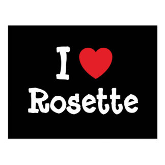 I love Rosette heart T-Shirt Postcard