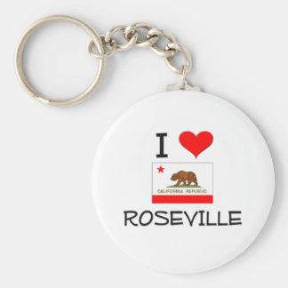 I Love ROSEVILLE California Keychain