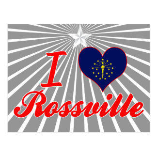 I Love Rossville, Indiana Postcard