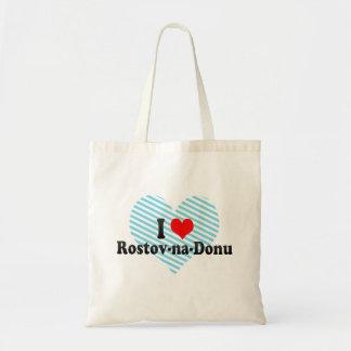 I Love Rostov-na-Donu, Russia Canvas Bags