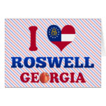 I Love Roswell, Georgia Greeting Cards