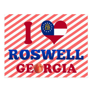 I Love Roswell, Georgia Postcard