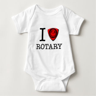 I love Rotary Engine Baby Bodysuit