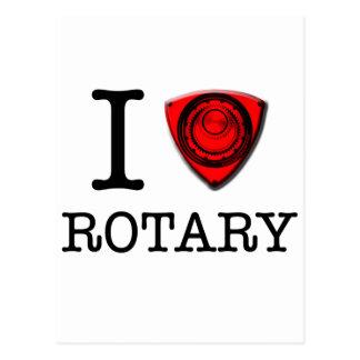 I love Rotary Engine Postcard