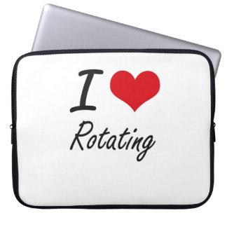 I Love Rotating Laptop Computer Sleeve