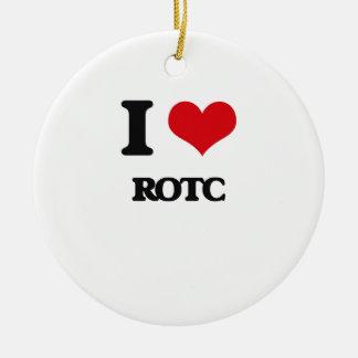 I Love Rotc Ceramic Ornament