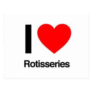 i love rotisseries postcard