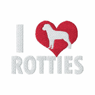 I Love Rotties Embroidered Hoody