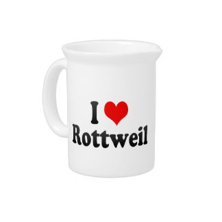 I Love Rottweil, Germany Beverage Pitchers