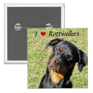 I Love Rottweilers Button