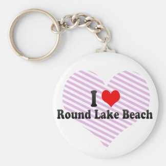 I Love Round Lake Beach, United States Key Chains
