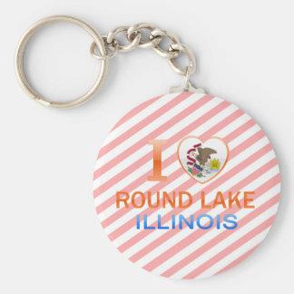 I Love Round Lake, IL Keychain