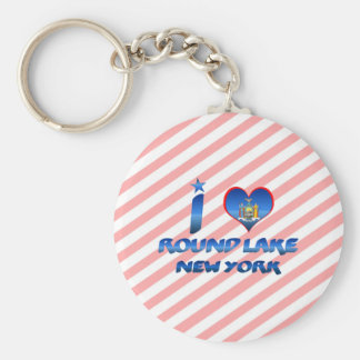 I love Round Lake New York Keychains