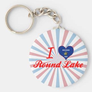 I Love Round Lake, Wisconsin Keychain