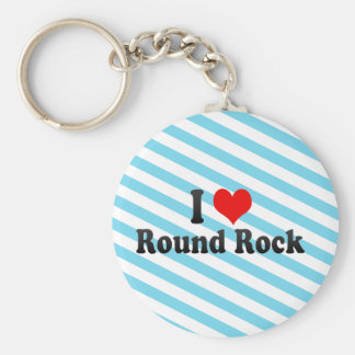 I Love Round Rock, United States Keychain