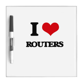 I Love Routers Dry-Erase Whiteboard