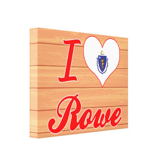 I Love Rowe, Massachusetts Stretched Canvas Print